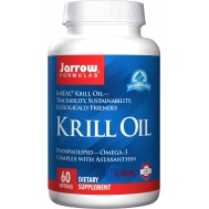 Krill Oil 60 softgels - 100% pure phospholipid-omega-3 complex with astaxanthin | Jarrow Formulas
