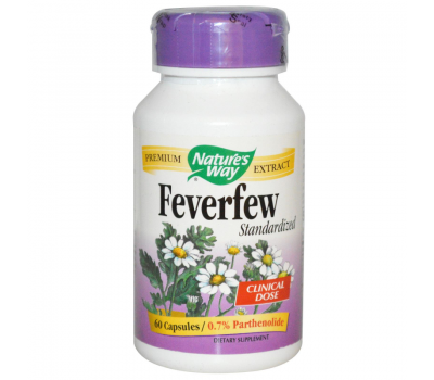 Feverfew Standardized 60 caps - moederkruid met 0,7% parthenolide | Nature's Way