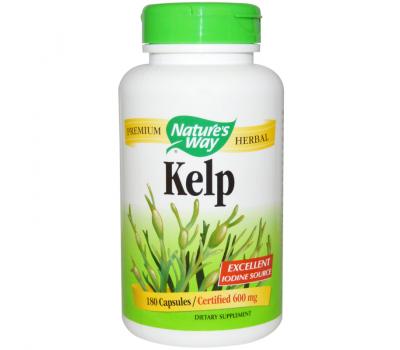 Kelp 180 caps - zeewier met jodium | Nature's Way