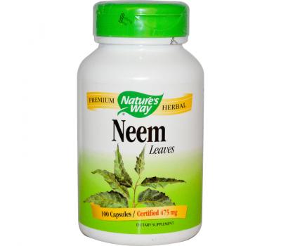 Neem leaves 100 caps - blad van Azadirachta indica | Nature's Way