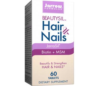 Beautysil Hair & Nails 60 tabletten - biologisch actief silicium met biotine en MSM   Jarrow Formulas