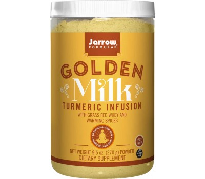 Golden Milk 270g - grass-fed whey, milk protein, coconut milk, turmeric, ginger and cinnamon | Jarrow Formulas