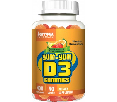 D3 - cholecalciferol 400ie 90 gummies for kids - 10mcg per chew