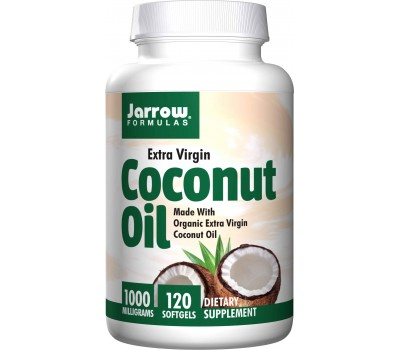 Organic Extra Virgin Coconut Oil 120 caps - extra virgiene kokosolie | Jarrow Formulas