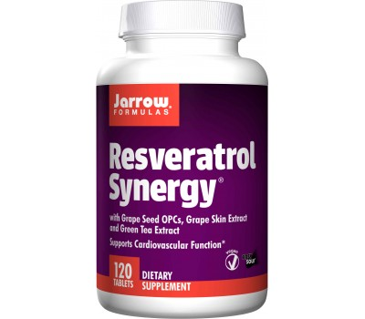 Resveratrol Synergy 20mg 120 tabletten - 90% transresveratrol, druivepit, druivenschil & groene thee | Jarrow Formulas