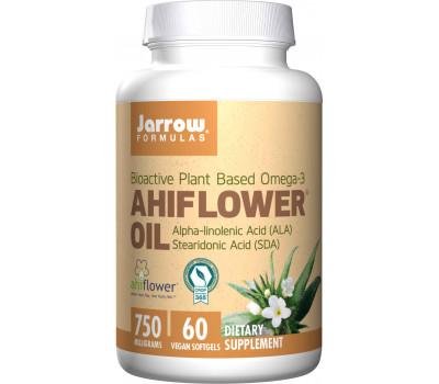 Ahiflower Oil 60 softgels - bio-actieve plantaardige omega-3  uit ruw parelzaad  | Jarrow Formulas