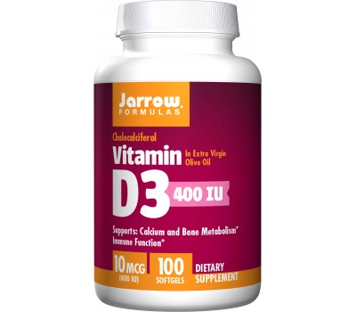 D3 - cholecalciferol 400ie 100 softgels - 10mcg