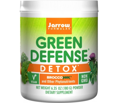 Green Defense Detox 180g - vegetables, grasses, broccoli and botanical detox blend | Jarrow Formulas