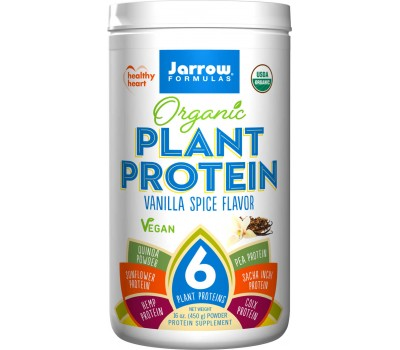 Organic Plant Protein 450g vanilla spice with 6 plant proteins  | Jarrow Formulas