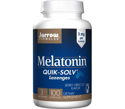 Melatonin Fast Melt 3mg 100 zuigtabletten bessen-hibiscussmaak - melatonine met een snelle opname | Jarrow Formulas