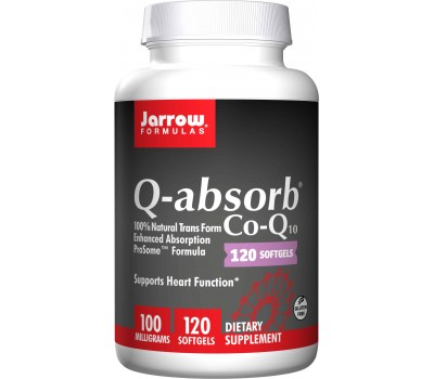 Q-absorb 100mg 120 softgels - ubiquinon (co-enzym Q10) met fosfolipiden | Jarrow Formulas
