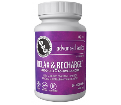 Relax and Recharge 90 capsules - ashwagandha en rhodiola | AOR