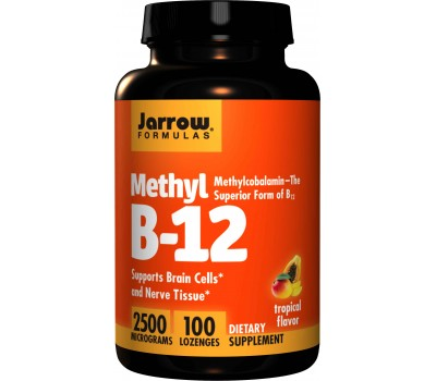 B12 - Methylcobalamin 2500mcg 100 lozenges tropical flavour  | Jarrow Formulas