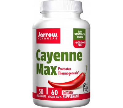 Cayenne Max 60 capsules - - highly concentrated cayenne fruit extract   Jarrow Formulas