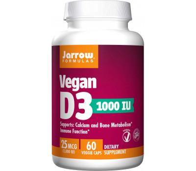 D3 - vegan cholecalciferol 1000ie 60 capsules voor veganisten   Jarrow Formulas