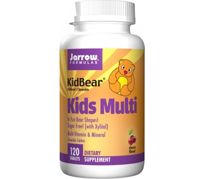 Kid BearKids Multi 120 kauwtabletten - ijzervrije kauwmultivitamine voor peuters, kleuters en jonge kinderen   Jarrow Formulas