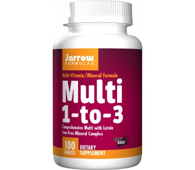 Multi 1-to-3 100 tabletten - ijzervrije multivitamine voor iedereen | Jarrow Formulas