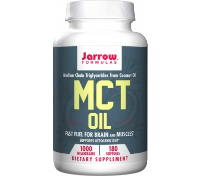 MCT Oil 180 softgels - Medium Chain Triglycerides from coconut oil | Jarrow Formulas