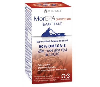 MorEPA Cholesterol 30 softgels - omega-3-formule met co-enzym Q10, rode gegiste rijst en B-vitamines | Minami Nutrition