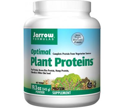 Optimal Plant Protein 540g - biologische erwt, rijst, hennep, chlorella, chia en vezels, compleet eiwit | Jarrow Formulas