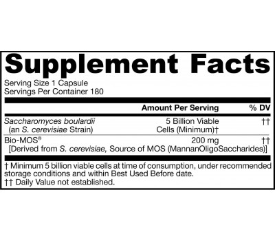 supplement facts Saccharomyces